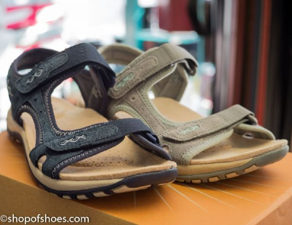 Earth spirit natural grey suede leather summer walking sandal